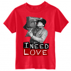 I Need Love Red Kids T-Shirt-Recovered