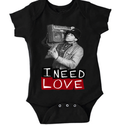 I need love Love Black Baby Onesie