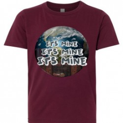 Its Mine Nas Hip Hop Youth T-Shirt maroon