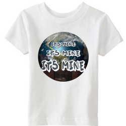 Its Mine White Kids T-Shirt