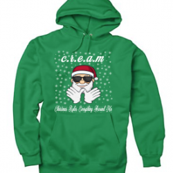 Kelly Green Christmas Rules Everything Around Me C.R.E.A.M Wu Tang Christmas Hoodie