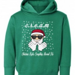 Kelly Green Christmas Rules Everything Around Me C.R.E.A.M Wu Tang Kids Chirstmas Hoodie