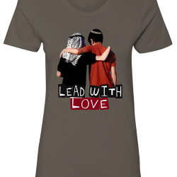 Lead with Love Charcoal Womens T-Shirt