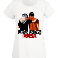 Lead with  Love - White Boyfriend Tee