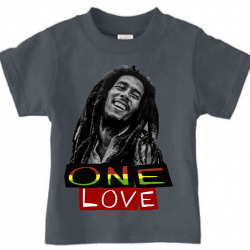 One Love Charcoal Grey Kids T-Shirt