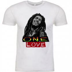 One Love White Mens T-Shirt