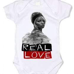 REAL  -Love Baby Onesie