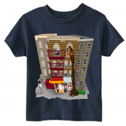 Rapunzel Navy Kids T-Shirt