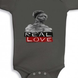 Real Love Baby Onsie Charcoal Grey