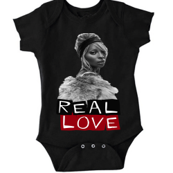Real Love Black Baby Onesie