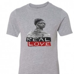 Real Love Kids T-Shirt Athletic Heather Grey