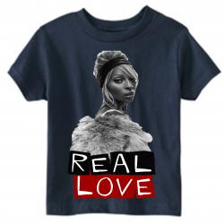 Real Love Navy Kids T-Shirt