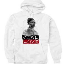 Real Love White Hoodie