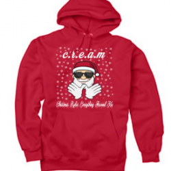 Red Christmas Rules Everything Around Me C.R.E.A.M Wu Tang Christmas Hoodie