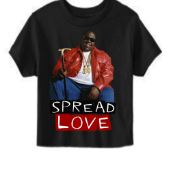 Spread Love Black Kids T-Shirt