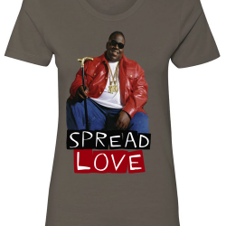 Spread Love Charcoal Womens T-Shirt-Recovered