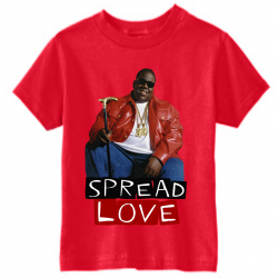 Spread Love Red Kids T-Shirt-Recovered