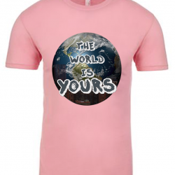 The World is Yours Light Pink Mens T-Shirt